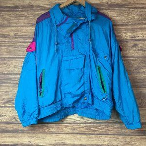 90's Andy Johns Spring Fall Zip Front Coat Jacket